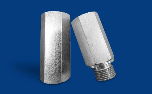Rohrbruchsicherung aus Edelstahl geeignet für Leitungseinbau in Gehäusen